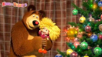 Walpaper Serial Animasi Masha and the Bear ada di samping teks => Baju Masha Di Masha In The Bear