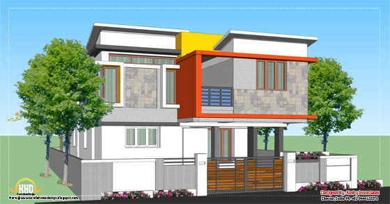 Modern home design 1809 sq ft for Best house designs 2012