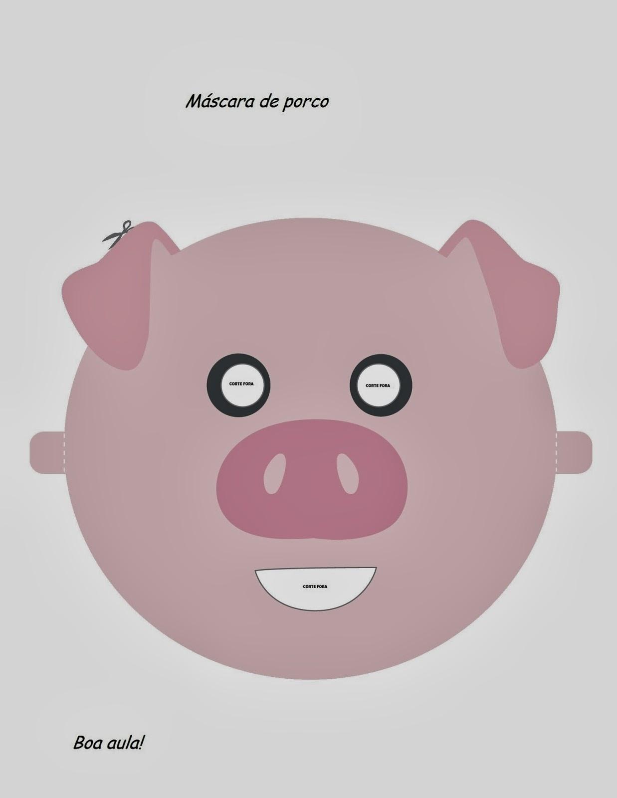 Molde de Máscaras - Porco