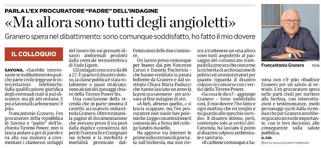 23 luglio 2016 Tirreno Power : politici salvi, il disastro rimane.