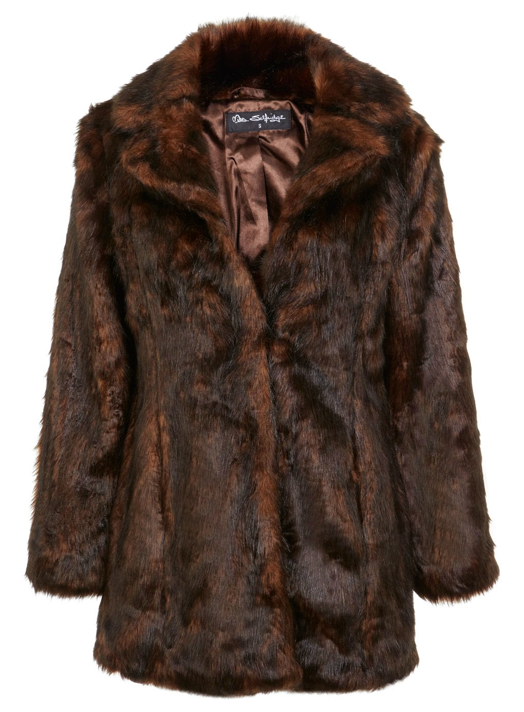 selfridge brown fur coat