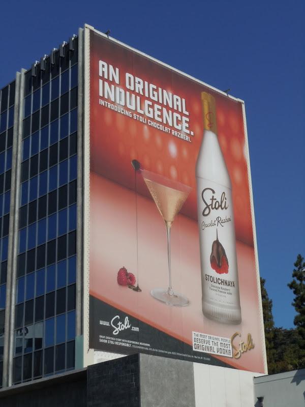 Stoli Chocolat Razberi Vodka billboard