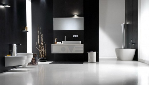 Black and White Bathroom Decor