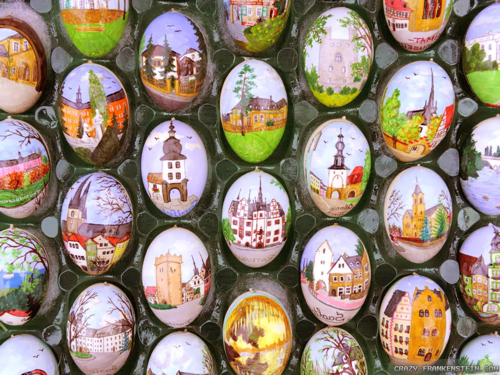 beautiful easter eggs background - photo #33