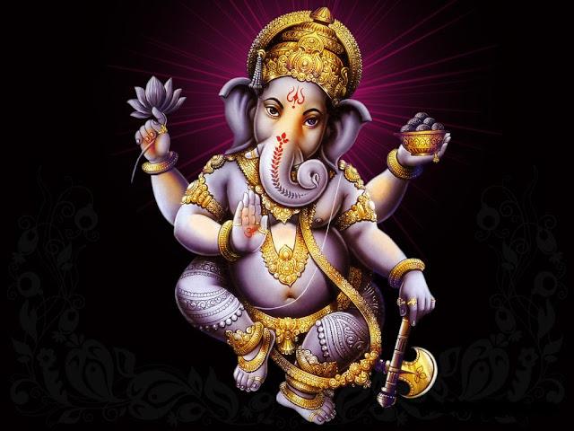 Lord Ganesha Dark Background HD Wallpaper Download