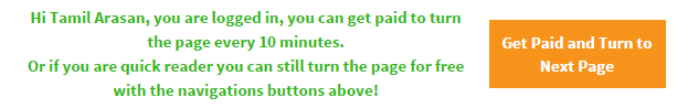 """Click """"next page"""" button to get paid for reading the book page"""
