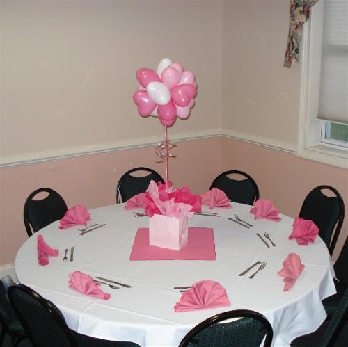 Balloon valves pictures table centerpieces