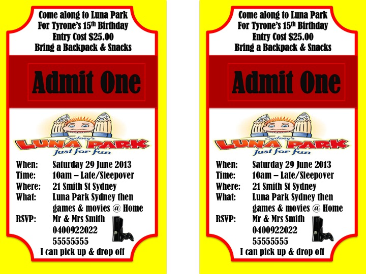 Living loving crazy teen luna park birthday party so here is what the invite looks like just as before i am happy to post a generic one if its something you might want for your own personal use just comment filmwisefo