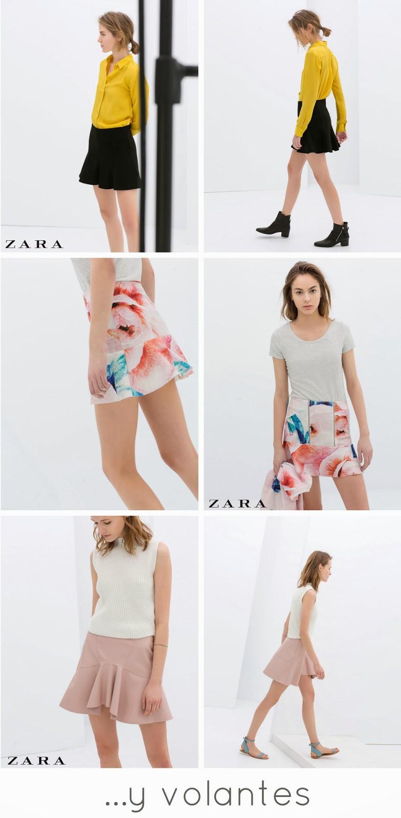 Faldas Volantes Zara