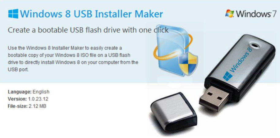 Cara Bootable Windows 8 melalui Windows 8 USB Installer Maker