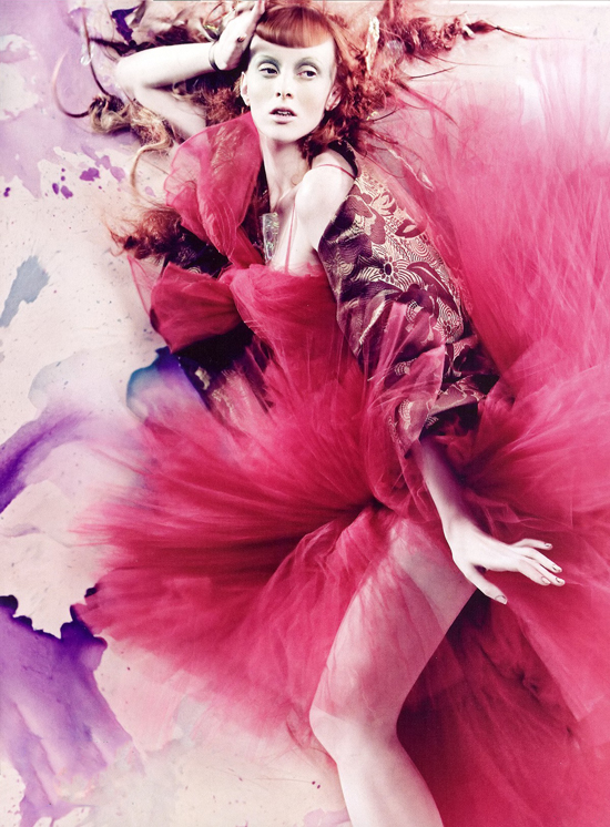 Karen Elson wearing Christian Dior Couture by John Galliano in Vogue Italia | photography: Craig McDean, styling: Tabitha Simmons