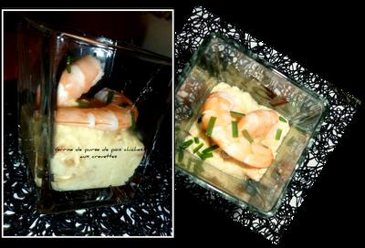 image Verrines de pois chiches aux crevettes