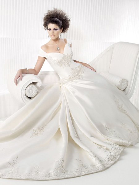 Wedding Dresses With Sleeves Off The Shoulder