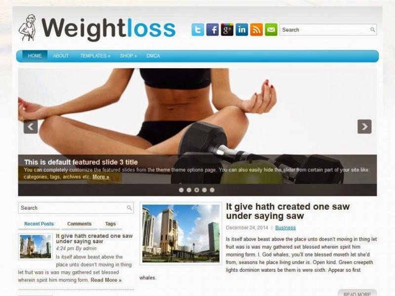 WeightLoss - Free Wordpress Theme