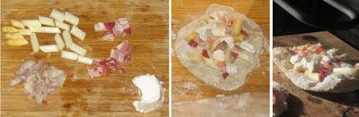 Zubereitung Flammkuchen mit weißem Spargel