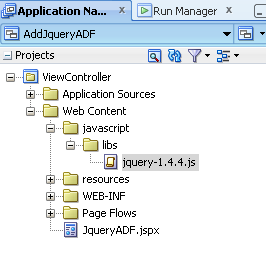 jQuery in Oracle ADF