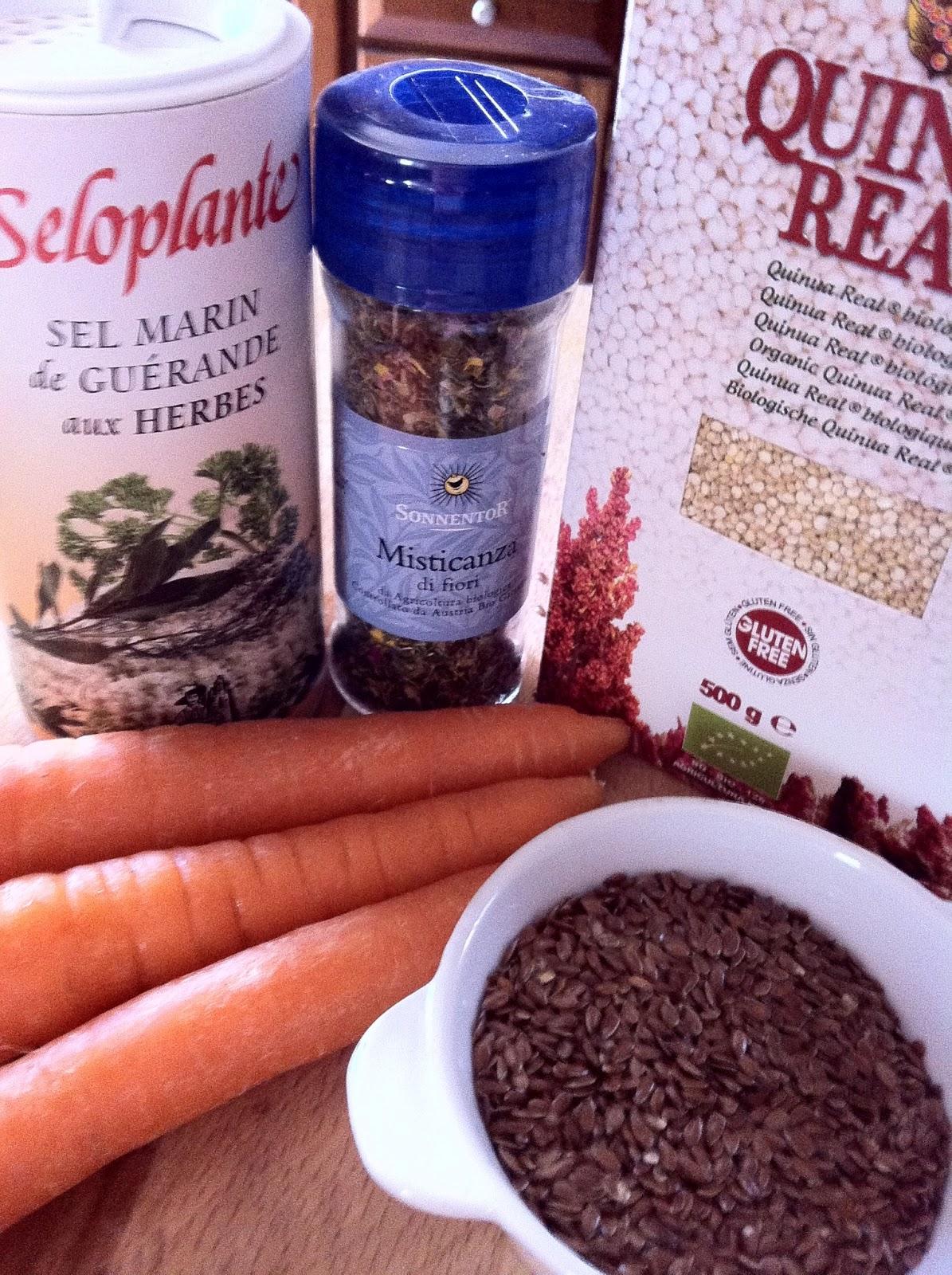 MAMMA MIA QUANTE RICETTE: Quinoa Reale con semi di lino, carote e ...