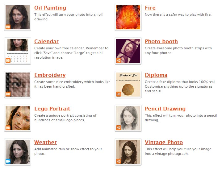 Photofunia.com - Online Cool Photo Effects Editor