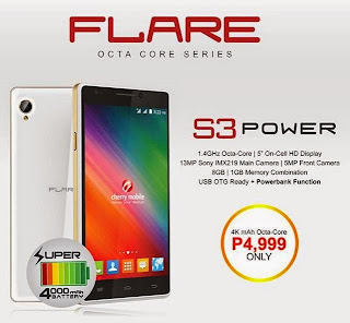 Cherry Mobile Flare S3 Power Now Available for Php4,999