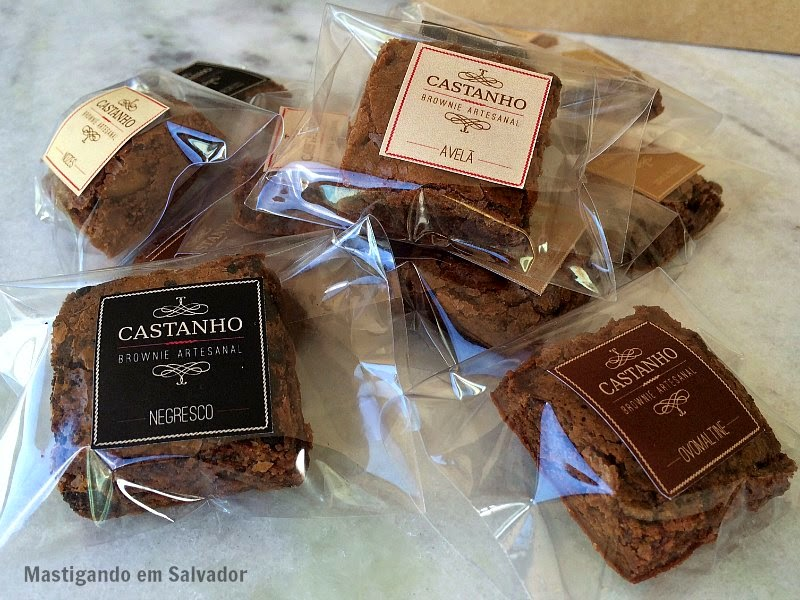 Castanho Brownie Artesanal: Brownies embalados individualmente