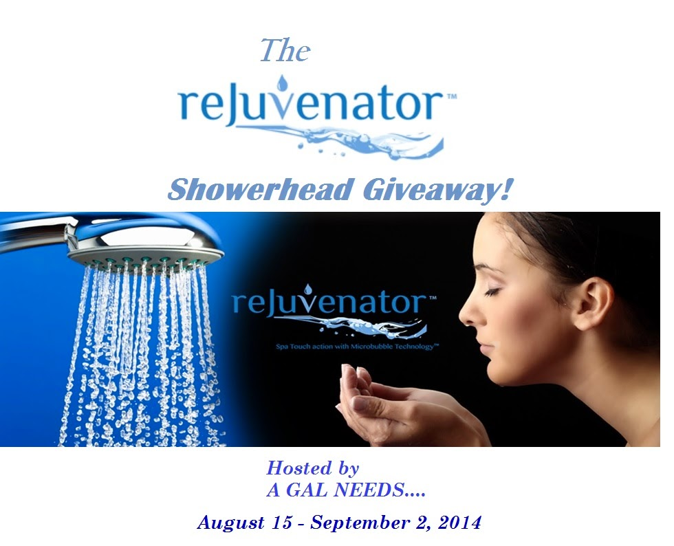 Enter The Rejuvenator Showerhead Giveaway. Ends 9/2.