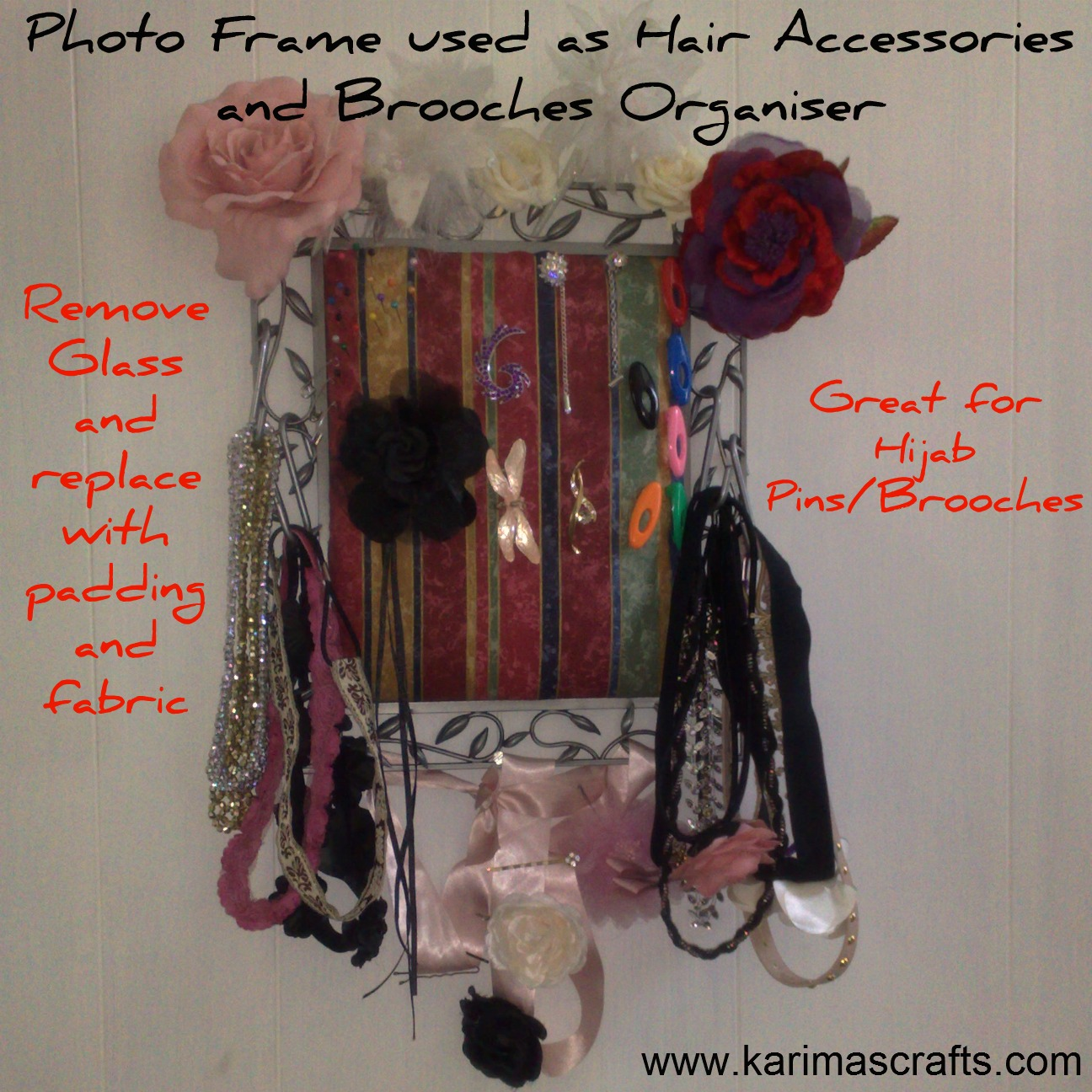 how to make hijab pins at home step by step