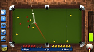 Screenshots of the Pro Pool 2015 for Android tablet, phone.