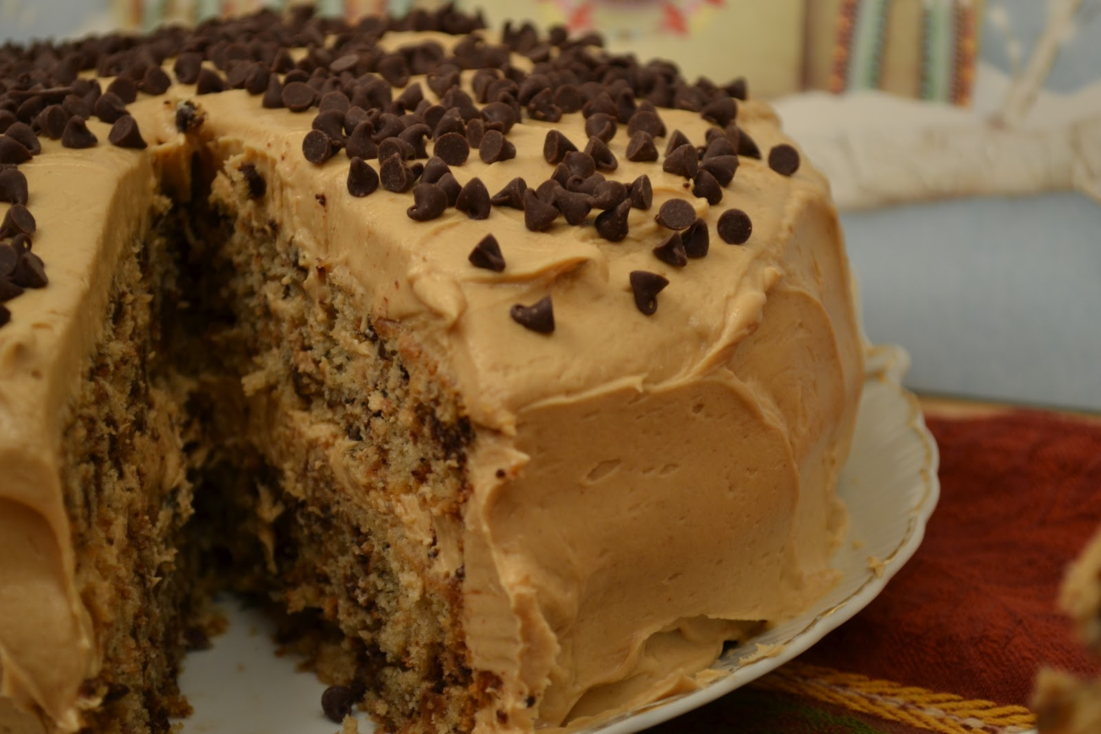 ... of Alaska: Chocolate Chip Banana Cake with Peanut Butter Frosting