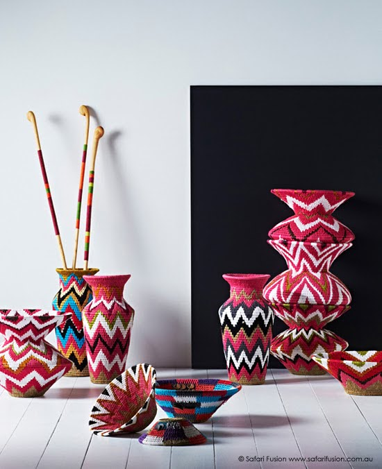 Safari Fusion blog | Woven & Stitched collection | Swazi Vessels, Urns and Baskets + Mogwane Walking Sticks by Safari Fusion www.safarifusion.com.au