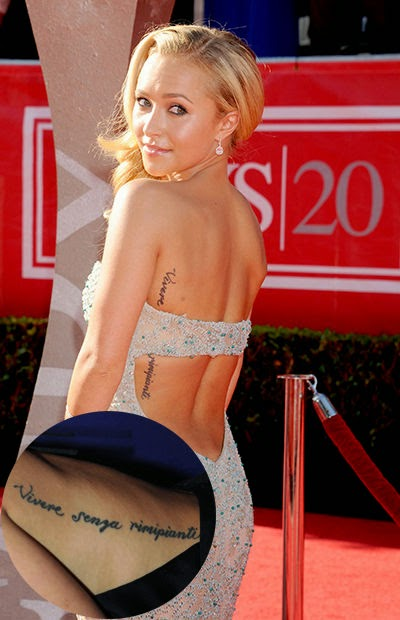 Hayden Panettiere Tattoos Pics