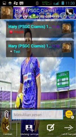 Tema BBM Mod Sepakbola PSGC Ciamis Untuk Android