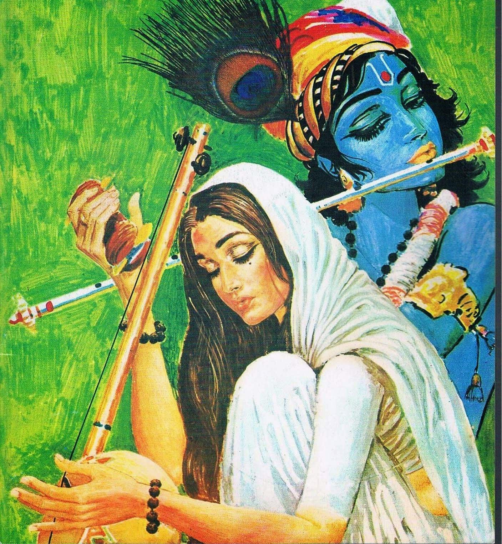 Image of Lord Krishna-Meera's Devotional love
