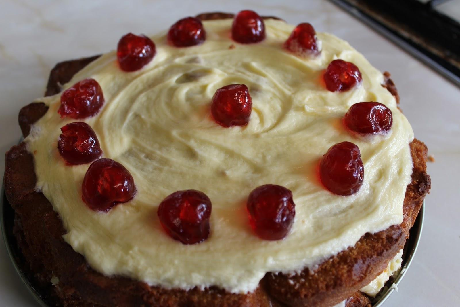 How To Cherry Almond Sponge Cake