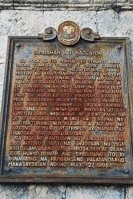 baclayon church history