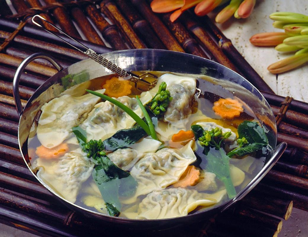 Wonton Soup with Gai Lan recipe photo