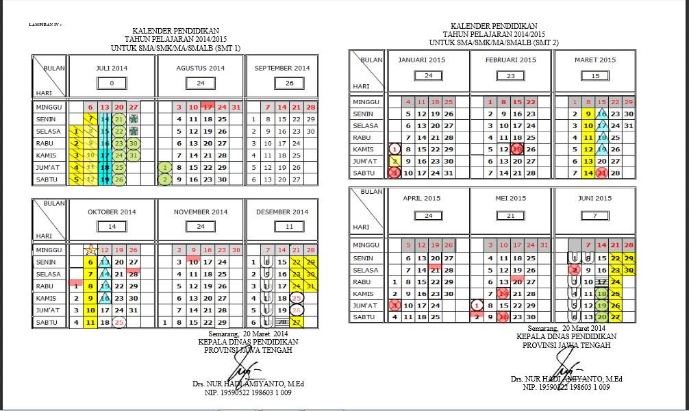 Kalender Pendidikan Tahun Pelajaran Jawa Tengah | Download Lengkap