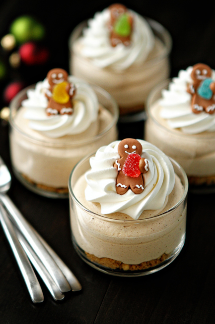 Gingerbread Oreo No Bake Mini Cheesecakes | A1 Pictures