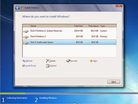 Cara Instal Windows 7 - Partisi Hardisk 6