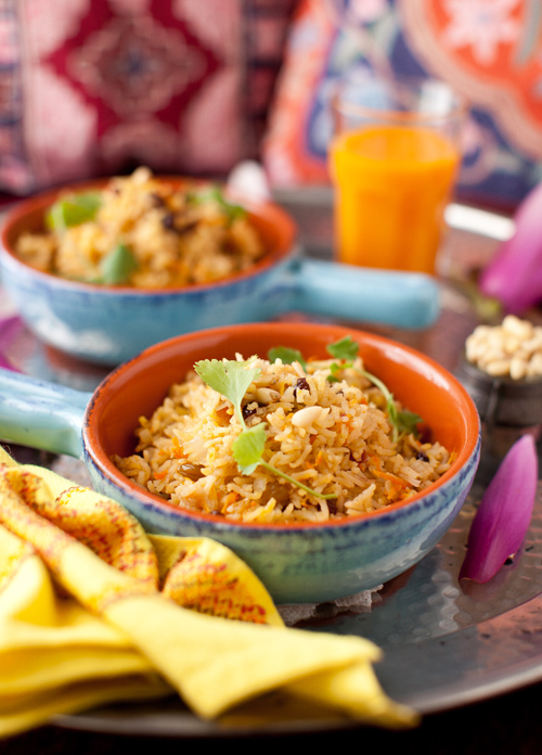 Saffron Rice with Raisins and Pine Nuts at Cooking Melangery