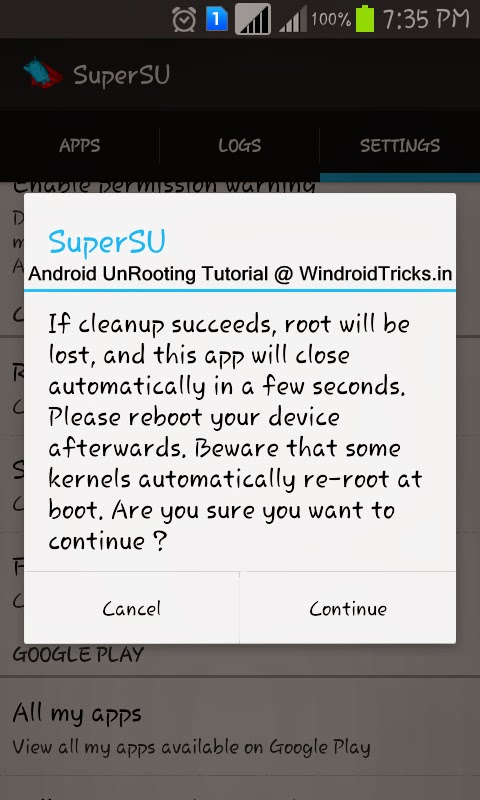 Fully Unroot Android devices