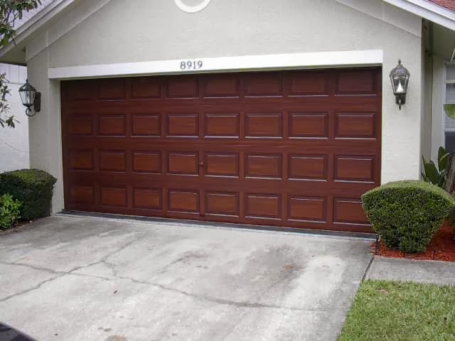 How to paint wood garage door ayanahouse for Faux paint garage door