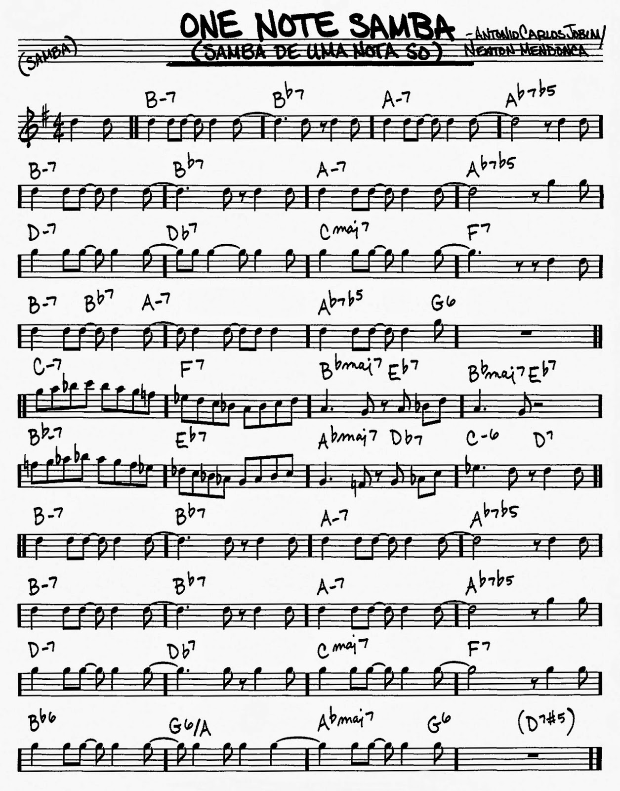John hancottes bass desires july 2014 lead sheet with correct chord changes as recorded by jobim the composer of desafinado plays and stan getz with astrud gilberto getz au go go hexwebz Gallery