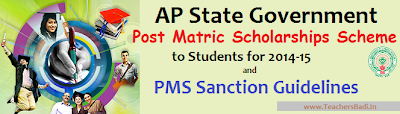 The Andhra Pradesh State Government, Social Welfare Department has issued a government order no.72 on today for implementation of PMS Scheme to Students for this academic year. In this order certain guidelines have been issued for sanction of Post-Matric Scholarships to the students by way of way of reimbursing the Tuition fee and the payment of Maintenance fee