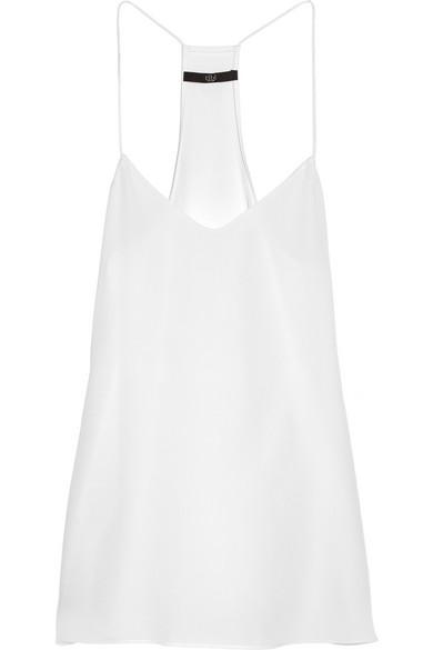 Tibi White Silk Camisole