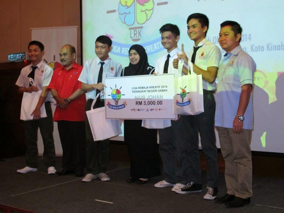 SMK All Saints Kota Kinabalu Naib Johan Liga Remaja Kreatif Zon Sabah 2014