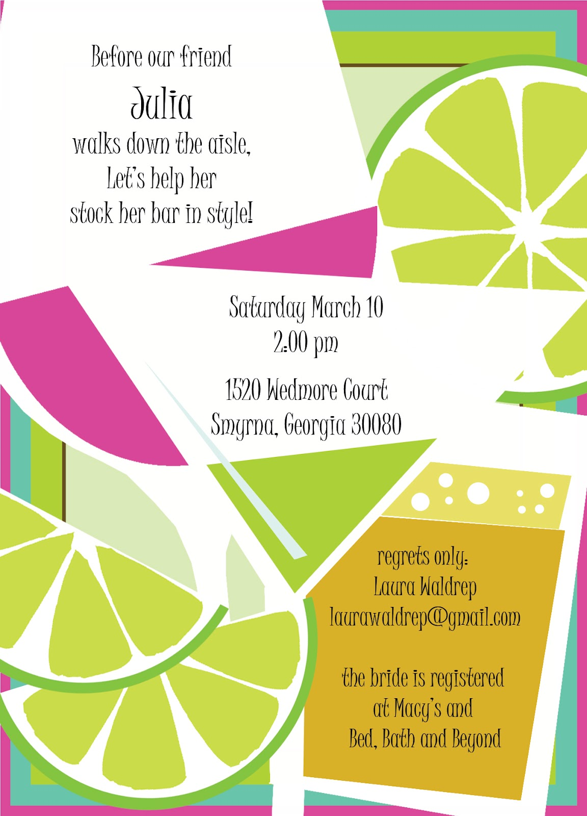 Fun Bridal Shower Invitations - Viewing Gallery