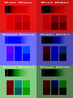 Color Pattern; Small Blocks on Top; Mode Burn