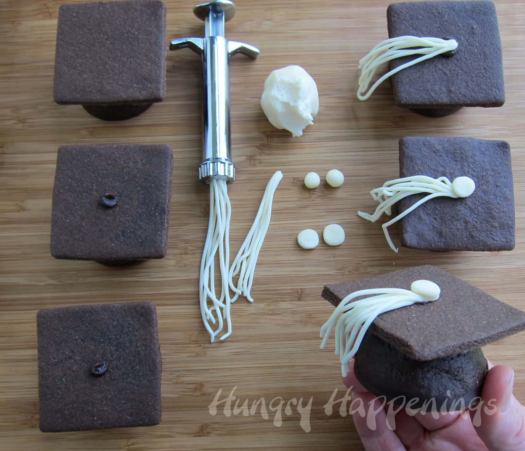 Candy filled chocolate graduation cap cookies hungry happenings publicscrutiny Choice Image