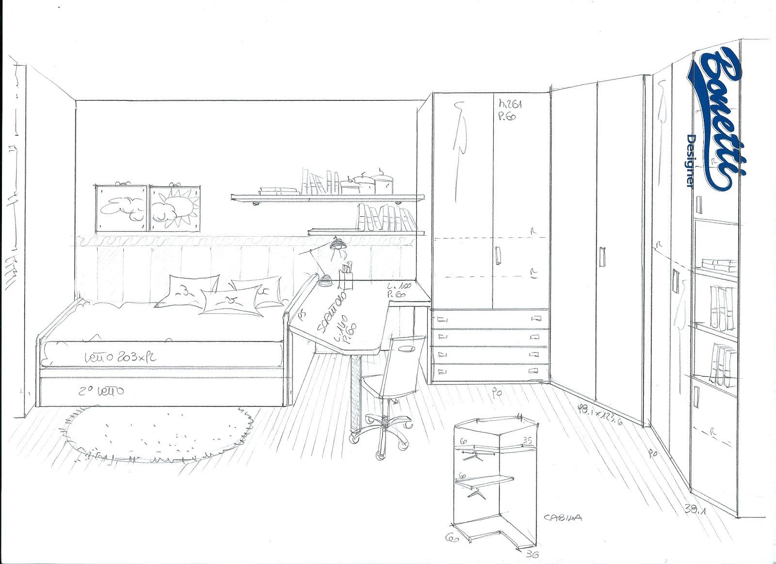 Progettare camerette trendy cameretta biagio with for Come progettare un layout di una stanza online gratuitamente
