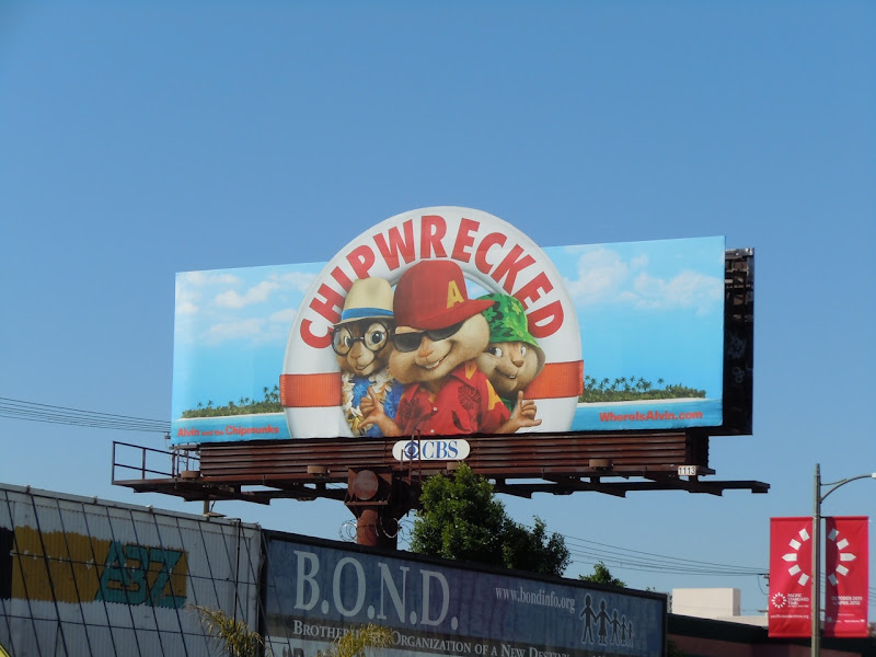Alvin and the Chipmunks Chipwrecked billboard